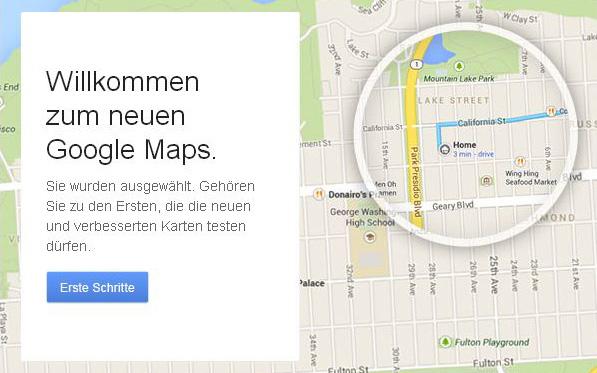 Willkommen beim neuen Google Maps