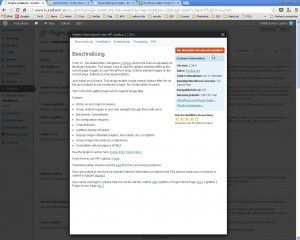 WP Lightbox 2 Plugin Seite