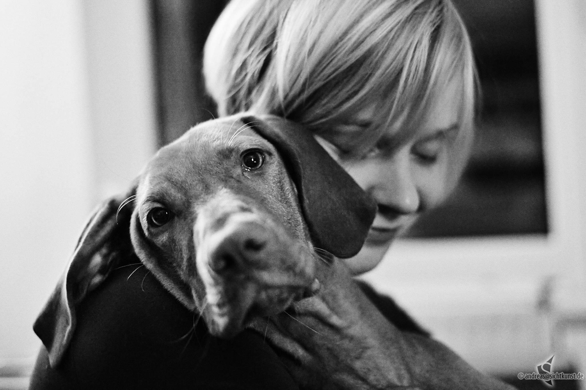 Kafka unser Hund und Sabine