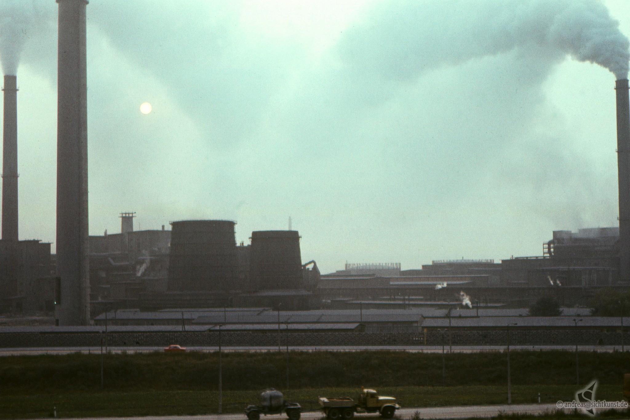 Blick auf das Buna Werk 1982